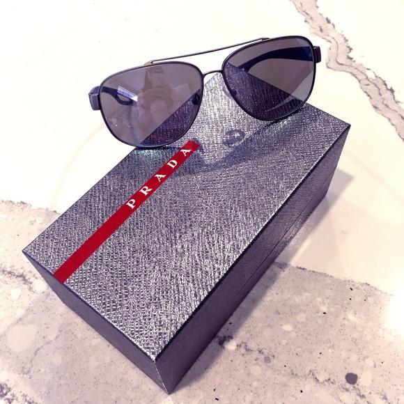 adf3d1bc6213d Prada Sport Sunglasses PS58QS Grey Blue 60mm